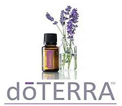 Doterra essential oils logo with lilacs and product